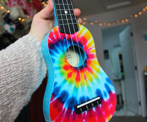guitar, colorful, and music image