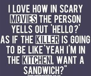 funny, killer, and movies image