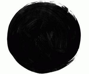 art, black, and circle image