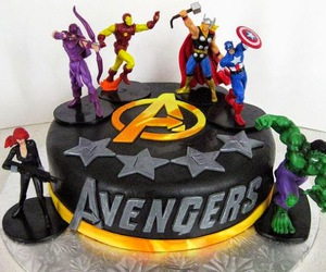 cakes, birthday cakes, and avengers birthday cakes image