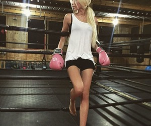girl, blonde, and fitness image