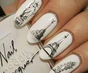 black, eiffel, and nails image