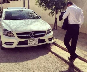 mercedes, car, and man image
