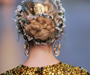 fashion, hair, and gold image