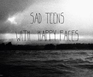 sad, happy, and teens image