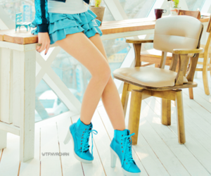 ankle, blue, and boot image