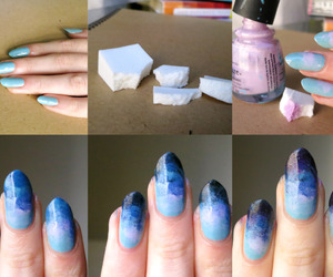 blue, tutorial, and nails image