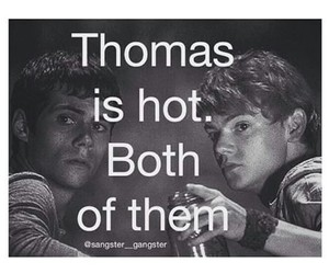 thomas, maze runner, and boys image