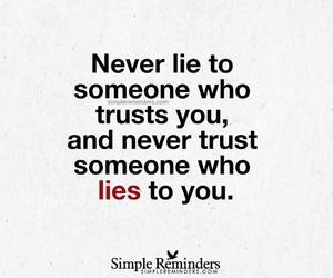 lies, trust, and quote image