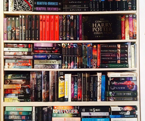 books, bookshelf, and fandom image