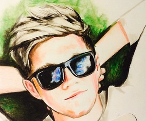 drawing, niall horan, and one direction image