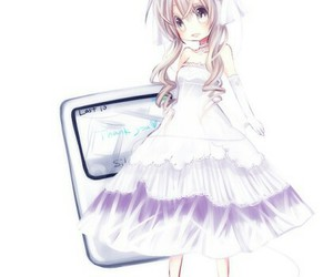anime and white image