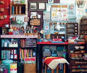 boho, organization, and home decorating image