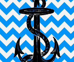 anchor and blue and white image