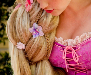 rapunzel, princess, and hair image