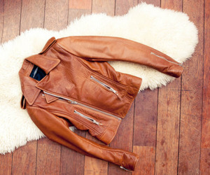 beautiful, fashion, and leather jacket image