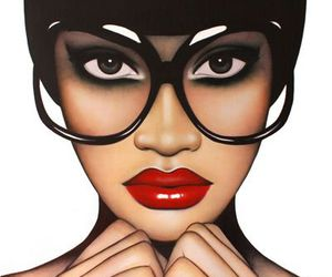 fashion, lips, and glasses image