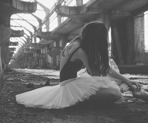 b&w, ballet, and dancing image