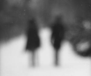 black and white, sadness, and creepy image