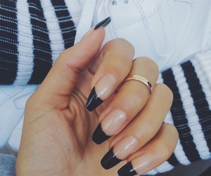 accessories, black, and black nails image