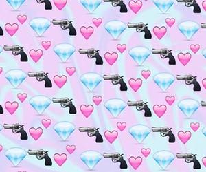 emoji, diamond, and gun image