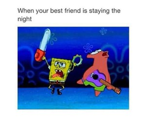 funny, spongebob, and best friends image