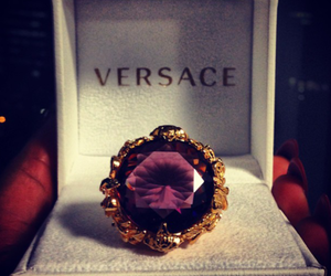 Versace, ring, and luxury image