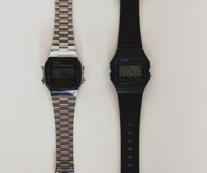 grunge, pale, and clock image