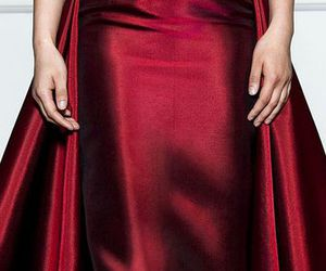 dress, red, and satin image