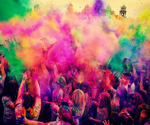 colors, holi, and cool image