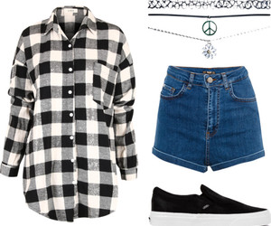 90's, casual, and checked image