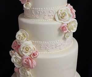 cakes, romantic, and roses image