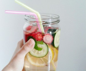 drink, fitness, and fruit image