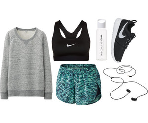 health, sports bra, and jogging image