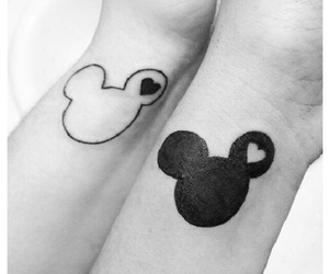 black and white, mickey mouse, and tumblr image