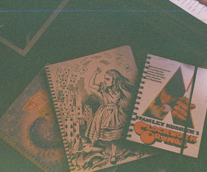 alice in wonderland, clockwork orange, and notebook image