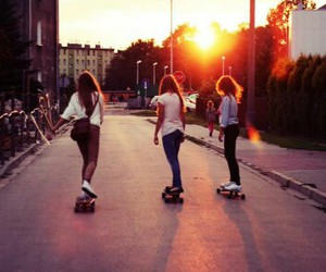 skate, friends, and longboard image