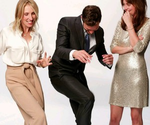 Jamie Dornan, anastasia steele, and lol image