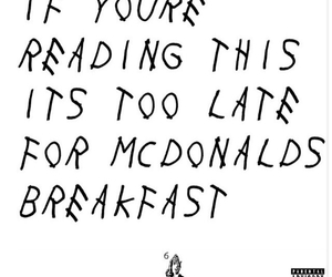 McDonalds and breakfast image