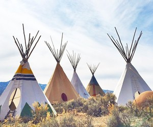 camping and teepee image