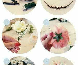 flowers, diy, and crown image