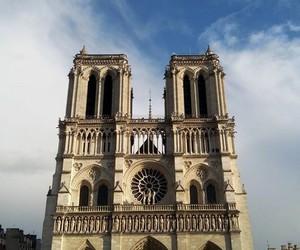 france, notredame, and paris image