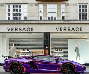 Versace, car, and Lamborghini image