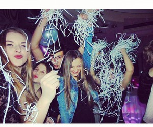 balloons, girls, and party image