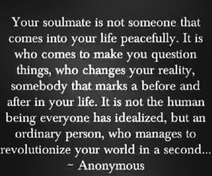 soulmate, love, and quote image
