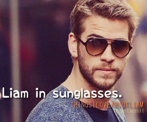 sunglasses, liam hemsworth, and things i love about liam image