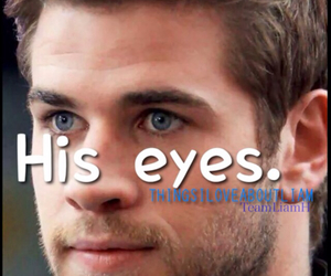 eyes, liam hemsworth, and things i love about liam image