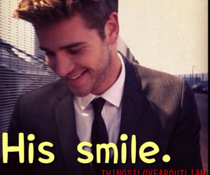 smile, liam hemsworth, and things i love about liam image
