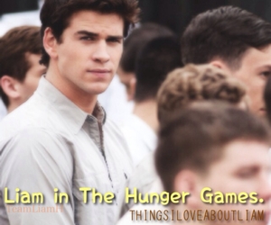 the hunger games, liam hemsworth, and things i love about liam image