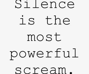 silence, scream, and quote image